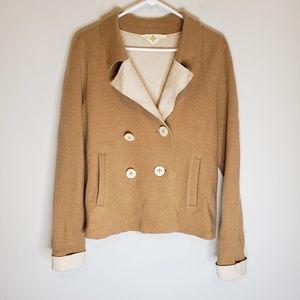 Anthropologie HWR Monogram Wool Jacket Size M